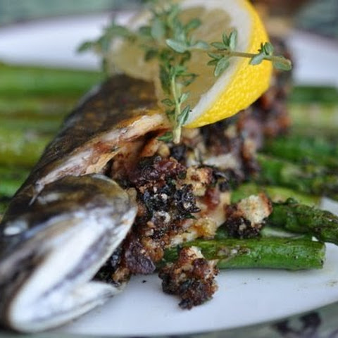 Wild Mushroom Stuffed Brook Trout