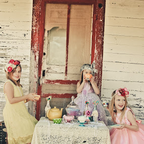 Tea Party by Robin Haws - Babies & Children Children Candids ( vintage backdrop, studio eleven photography, little girl, vintage inspired photography, child photography )