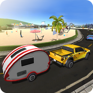 Camper Van Truck Simulator: Beach Car Trailer Icon