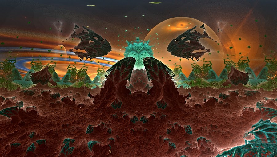 Hell; Has No Name by Rick Eskridge - Illustration Sci Fi & Fantasy ( jwildfire, mb3d, fractal, fantasy mood, twisted brush )