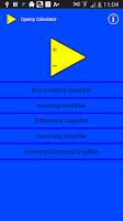 Screenshot of Opamp Calculator