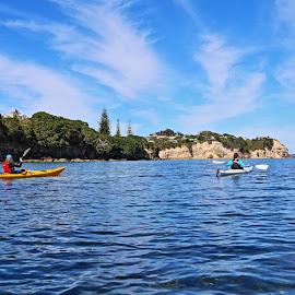 coastal Kayak  by Aaron Stephenson - Sports & Fitness Watersports ( water, ocean, scenic, kayak, paddle, sea kayak )