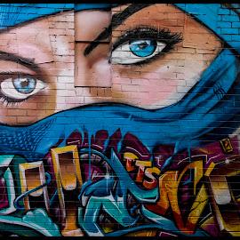 The Eyes Have it by Mark Hundt - City,  Street & Park  Street Scenes (  )