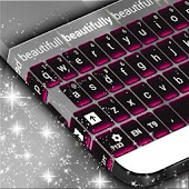 Pink Chrome Keyboard Theme for Lollipop - Android 5.0
