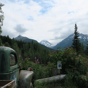Crow Creek Mine by Judy Smith - Novices Only Landscapes ( mountain, truck, alaska, crowcreekmine, landscape )