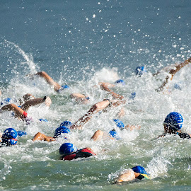 by Chin KK - Sports & Fitness Swimming ( changi beach, open sea, metasprint, swim, triathlon )