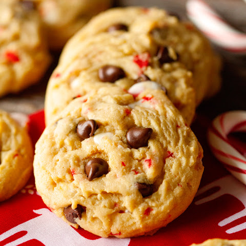Chocolaty Candy Cane Cookies