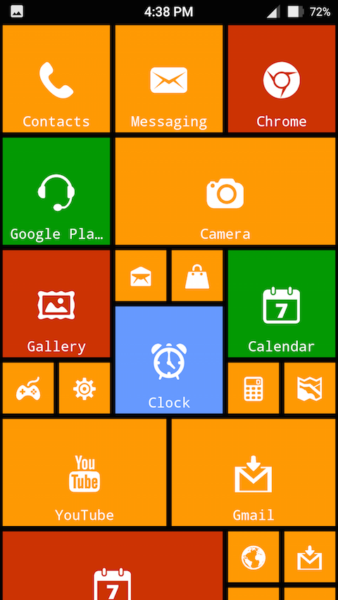 8.1 Metro Look Launcher Pro Screenshot 2