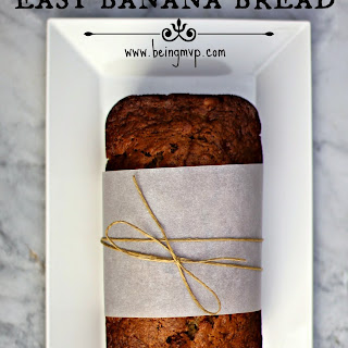 Easy Banana Bread for the Holidays {Recipe} #TasteTheMiracle #Ad