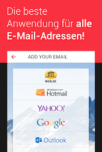 myMail – E-Mail Programm für Hotmail, GMX, Web.de Screenshot