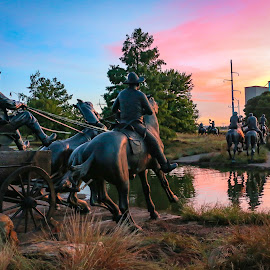 Oklahoma Land Run Memorial by Kathy Suttles - City,  Street & Park  Historic Districts