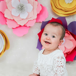 Sweet Marylin by Jenny Hammer - Babies & Children Babies ( pretty, flowers, baby, girl, cute,  )