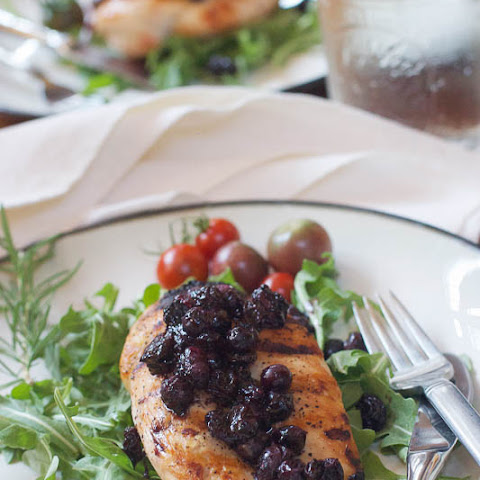 Chicken with Blueberry Chutney