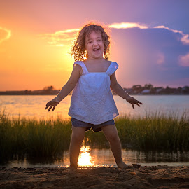 Rainbow Sunset by Mike DeMicco - Babies & Children Child Portraits