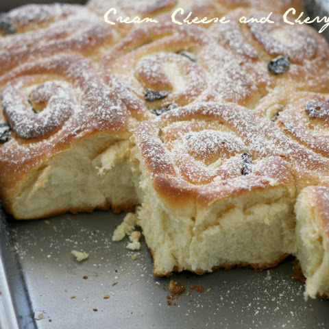 Cream Cheese and Cherry Buns