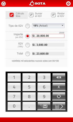 Calculadora de IGV Perú Pro - screenshot