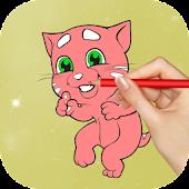 Download Full Talking Cat Coloring Game 1.0 APK