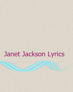 Janet Jackson Lyrics - screenshot