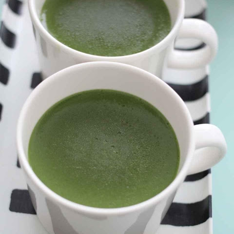 Matcha Soy Milk Custard Pudding in a Mug