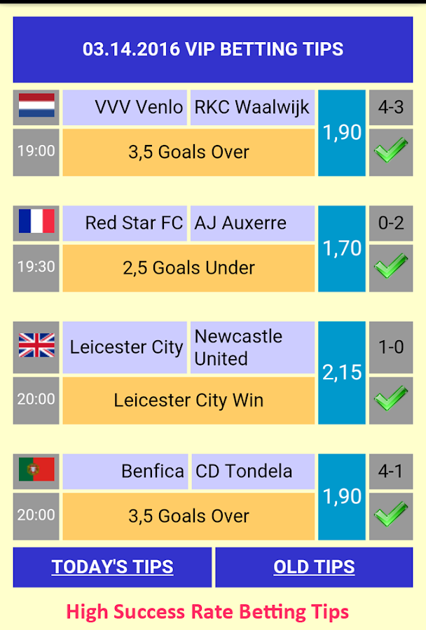 Vip Betting Tips Screenshot 1