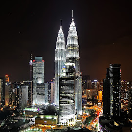 KLCC by Lim Andy - City,  Street & Park  Night ( klcc, night photography, travel, architecture, landscape, nightshoot, photography )