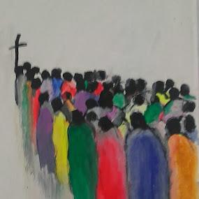 Praying by Vanja Škrobica - Painting All Painting
