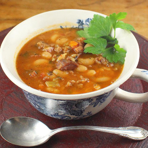 Crock Pot Italian Cannellini Bean Soup