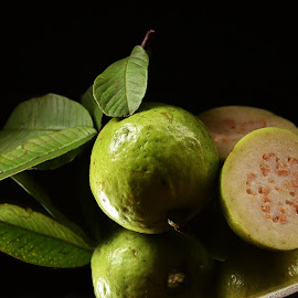 Still life  by Prasanta Das - Food & Drink Fruits & Vegetables ( fresh, green, still life, guavas )