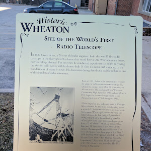 In 1937 Grote Reber, a 26 year old radio engineer, built the world's first radio telescope in the side yard of his home that stood here at 212 West Seminary Street, now Karlskoga Avenue. For ten ...