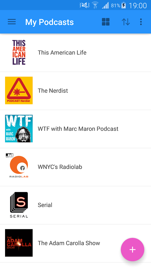 WeCast - Podcasts Screenshot 2
