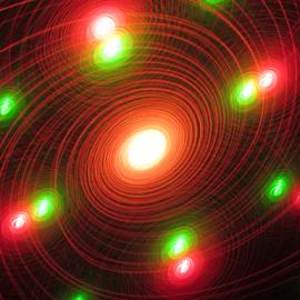 Mega universe  by Jim Barton - Abstract Patterns ( mega universe, laser light, colorful, light design, laser design, laser, laser light show, space, light, universe, science )