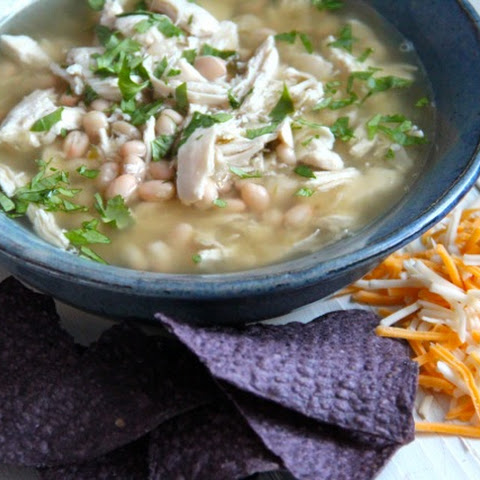 Easy Chicken Chile Verde & White Bean Soup