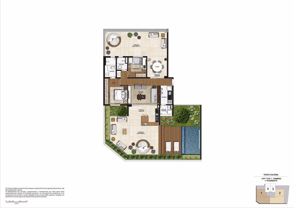 Planta 209 m² Garden Final 1 (Torre Galeria)