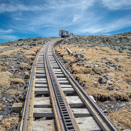 Mount Washington Cog Railway by David Long - Transportation Railway Tracks ( cog railway, white mountains, mount washington )