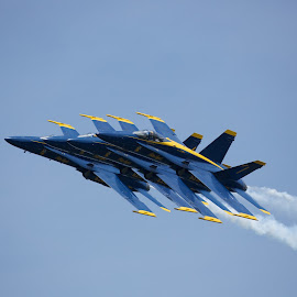 perfect formation by Mike Mulligan - Transportation Airplanes ( aviation, flight, annapolis, air show, blue angels )