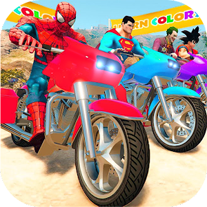 Super Heroes Downhill Racing Online PC (Windows / MAC)
