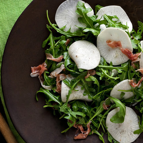 Shaved Turnip Salad With Arugula and Prosciutto