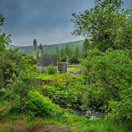 Glenalough's Castle by Jeana Caywood - Landscapes Travel ( ireland, ancient, cemetery, ruins, castle,  )