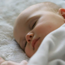 Baby Sleeping by Karl Collins - Babies & Children Babies ( family, white, tired, sleeping, baby )
