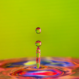 ... by Hale Yeşiloğlu - Abstract Water Drops & Splashes ( water, liquid, drop, art, drops )
