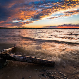 Sailorville by Kyle Kephart - Landscapes Beaches ( iowa, sailorville, sunset, beautiful, lake, sunrise, cityscape, landscape )