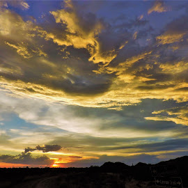 Summer Storm by Misty Mcnaughton - Landscapes Cloud Formations ( clouds, az, colorful, sunset, storm )