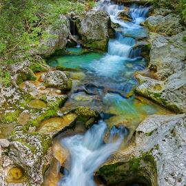 Cascades by Michaela Firešová - Nature Up Close Water ( water, creek, cascades )