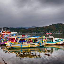 Boats in Paraty by Pravine Chester - Transportation Boats ( water, paraty, photograph, transport, boats, transportation )