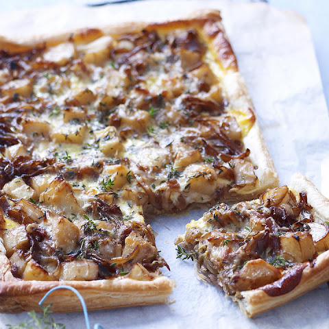 Fontina, Caramelized Onion and Potato Tart