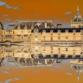 Chantilly castle by Gérard CHATENET - Digital Art Places