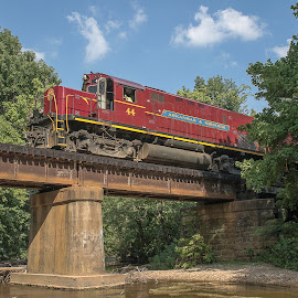 Bridge over Clear Creek by Jay Stout - Transportation Trains