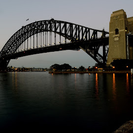 Sydney Harbour Bridge by Luke Rickinson - Buildings & Architecture Bridges & Suspended Structures ( water, bridge, morning, sydney, city )