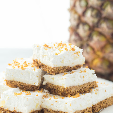 Mom's (Almost) No Bake Pineapple Squares