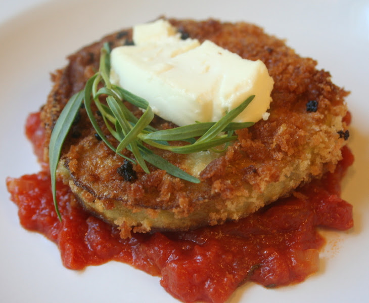 Eggplant and Goat-Cheese Sandwiches with Tomato Tarragon Sauce Recipe ...